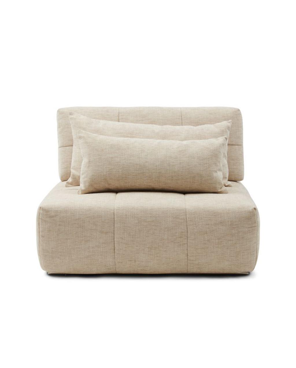Deel van modulaire zitbank met licht grijze kleur