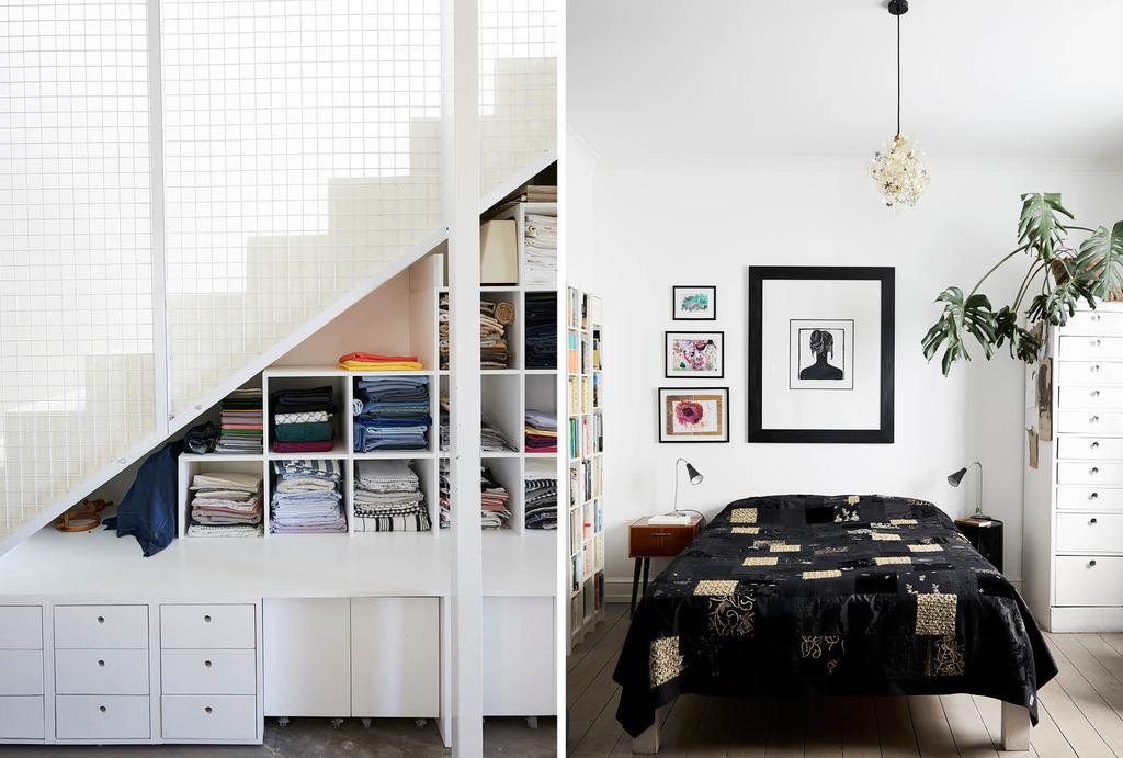 vtwonen binnenkijken in een zwart-wit slaapkamer