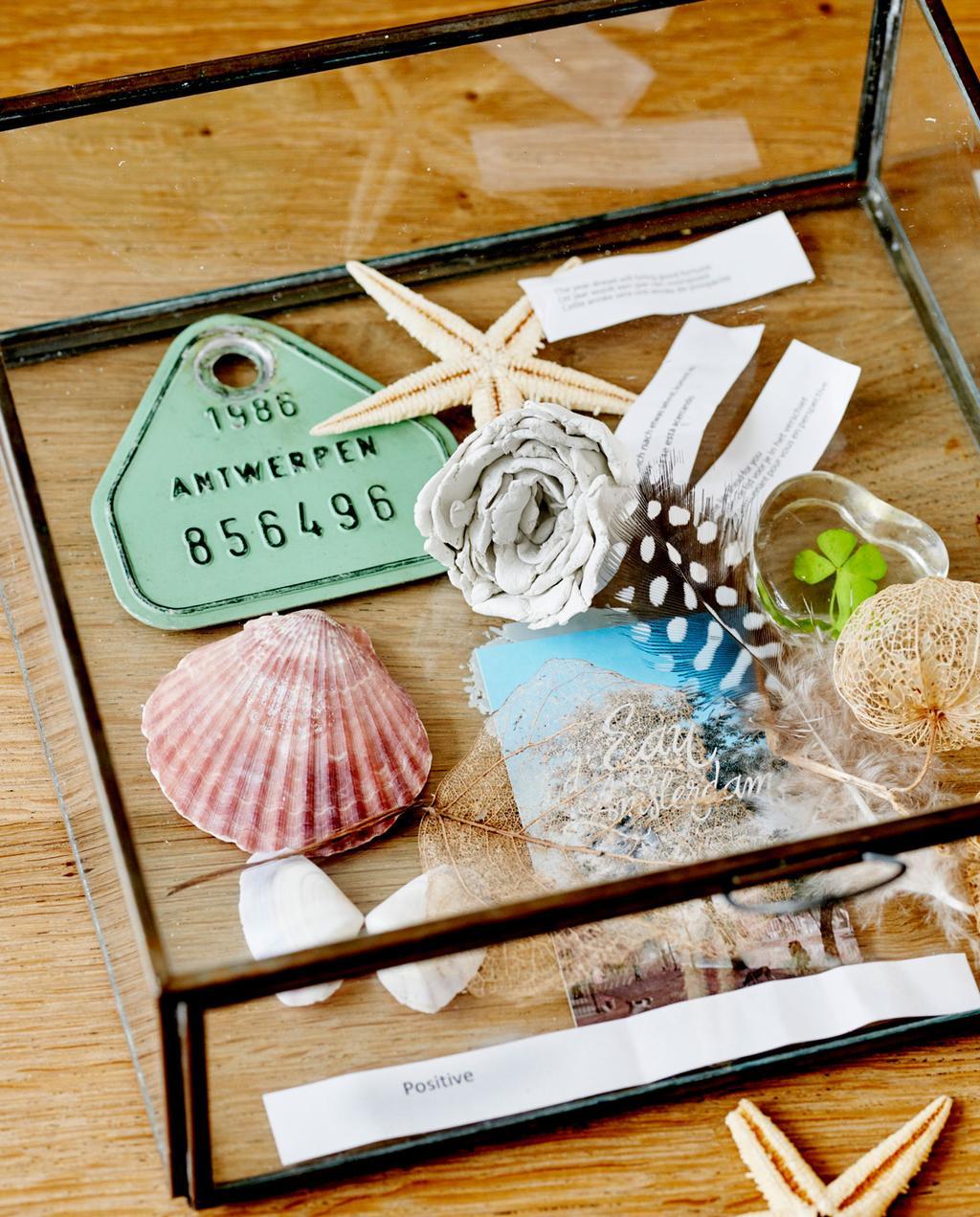 glazen bakje waarin waardevolle items worden uitgestald