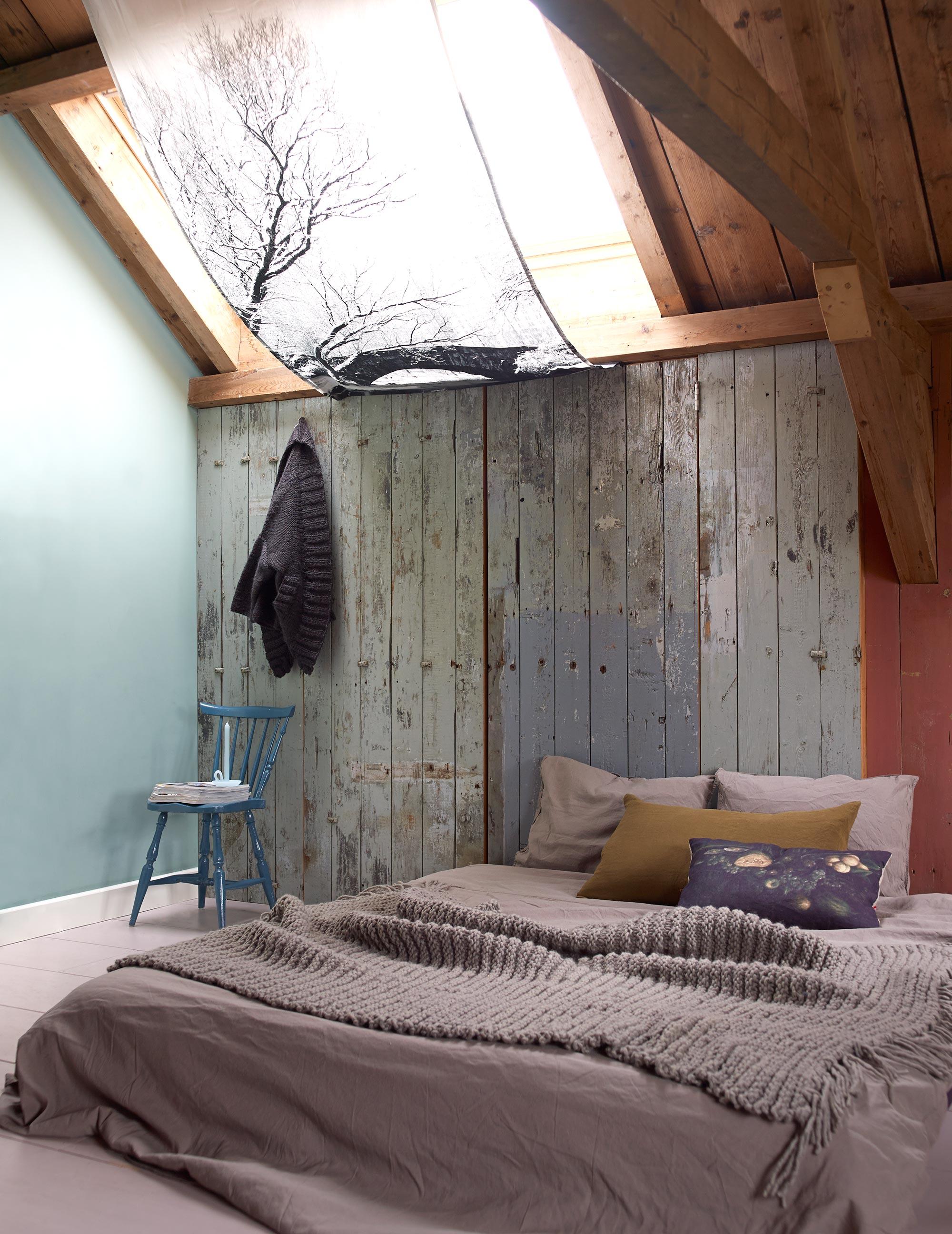 slaapkamer aardekleuren