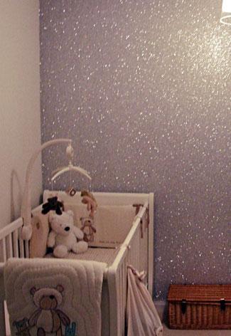 glitterverf muur
