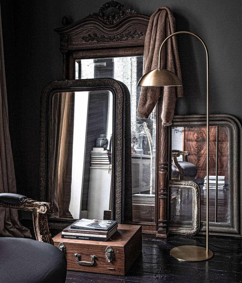gouden vloerlamp | Light & Living collectie | vtwonen 01-2021