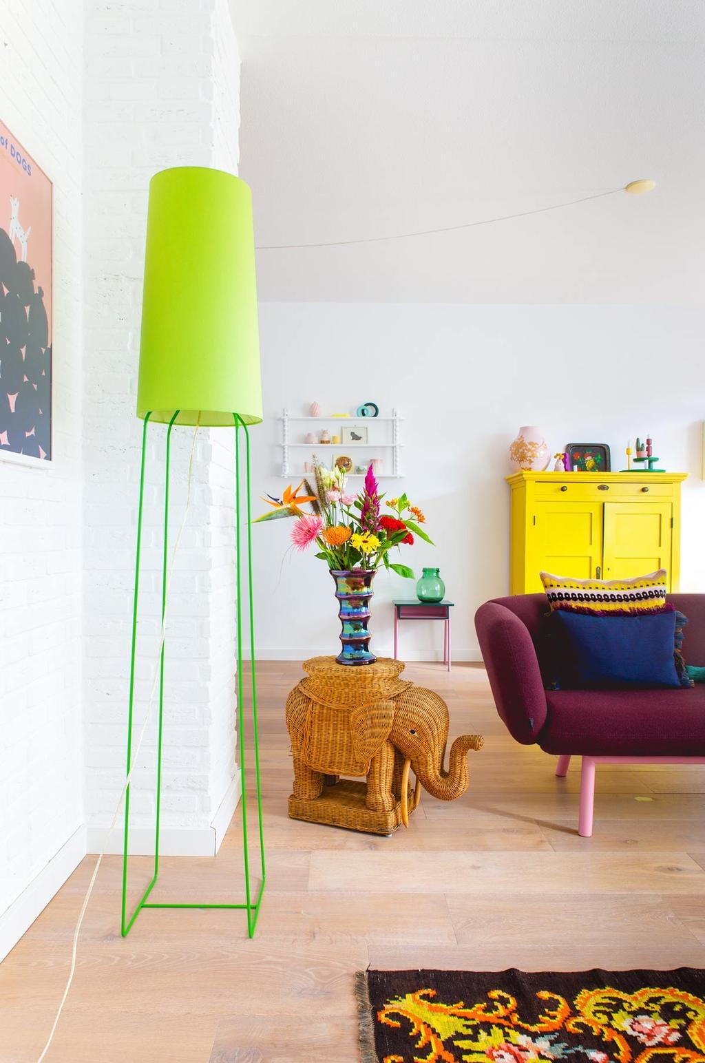 Een rotan olifant stylen in een kleurrijk interieur door Oh Marie!
