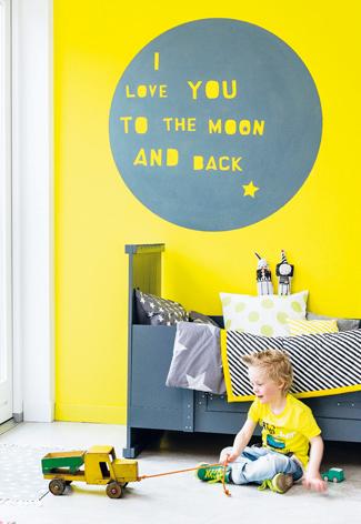 muurtekening babykamer