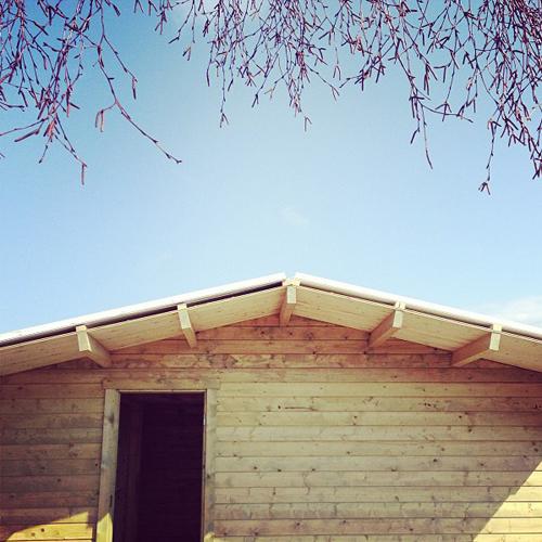 houten buitenhuisje