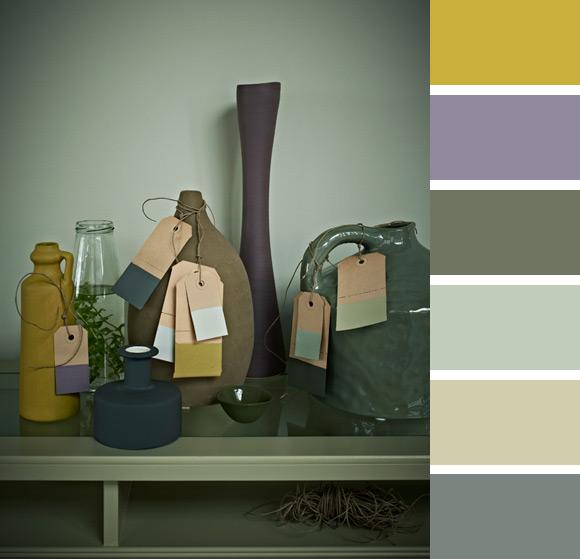 Natuurlijke kleuren palet