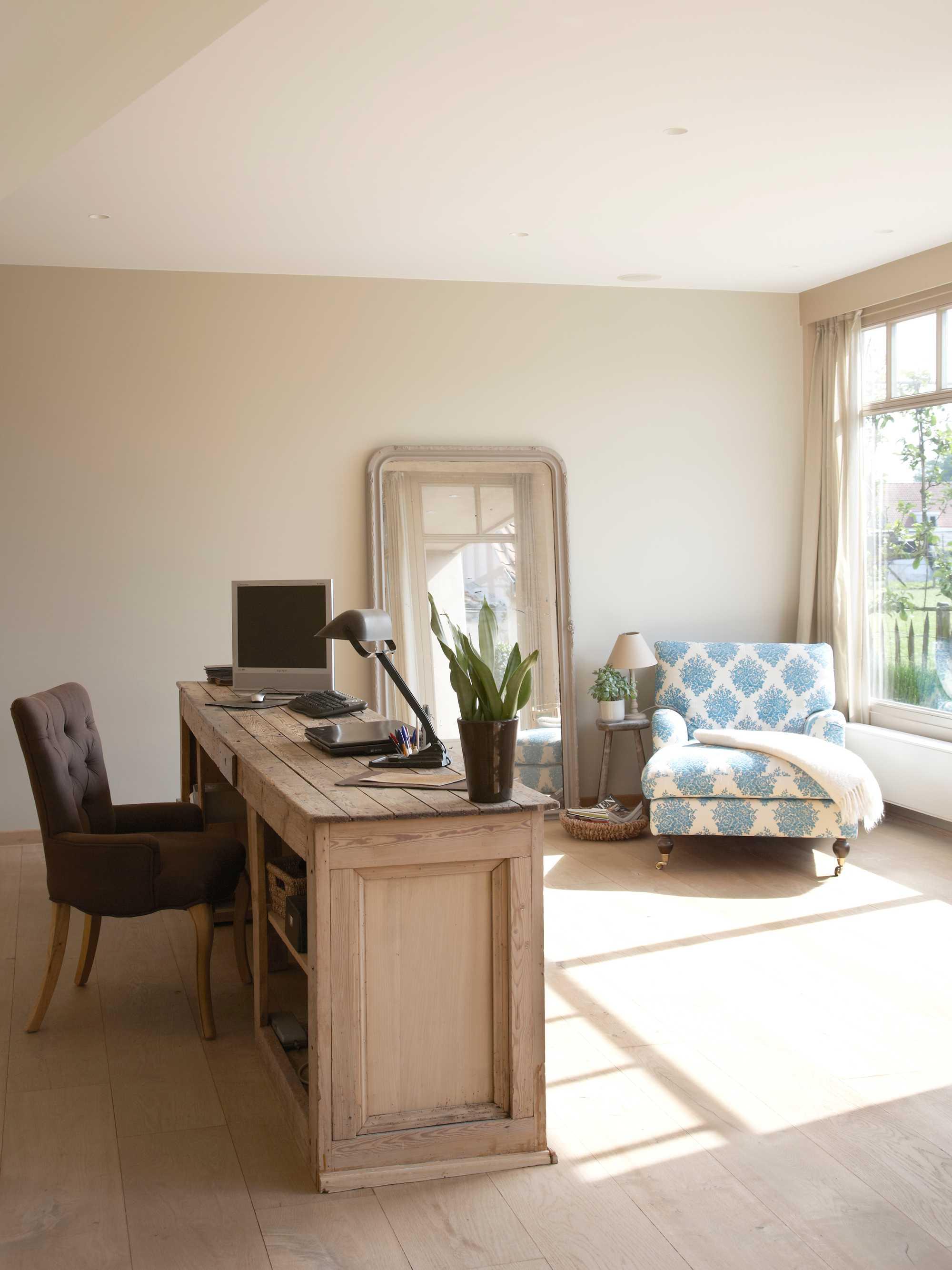kleur bureau blauwe chaise longue