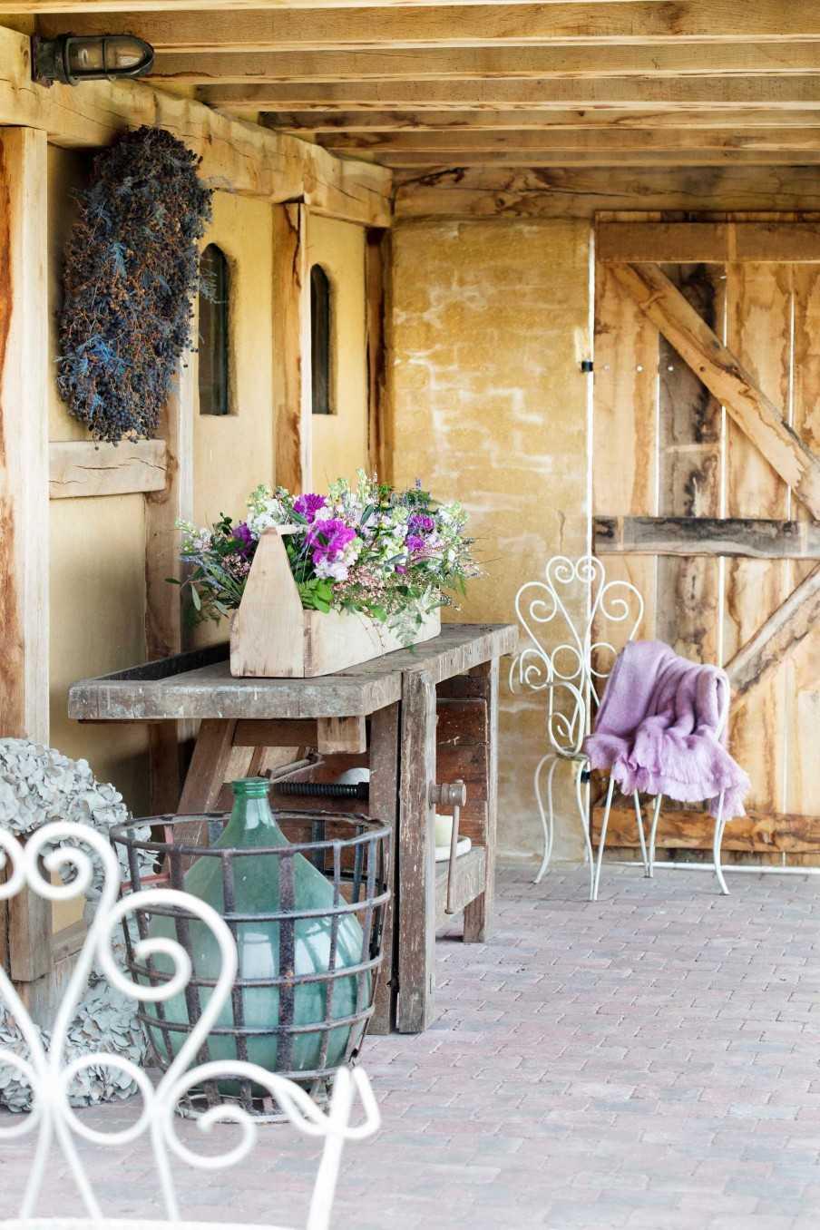 bloemen zomers houten bloembak