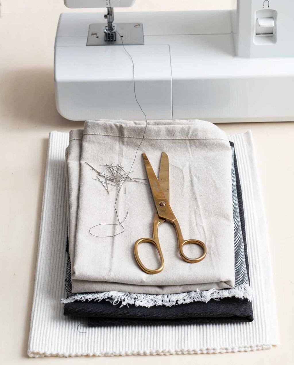 vtwonen 05-2020 | DIY Xl placemat stof aan elkaar naaien met naaimachine