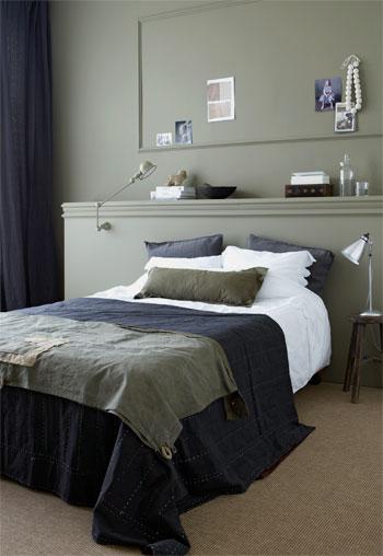 groene slaapkamer