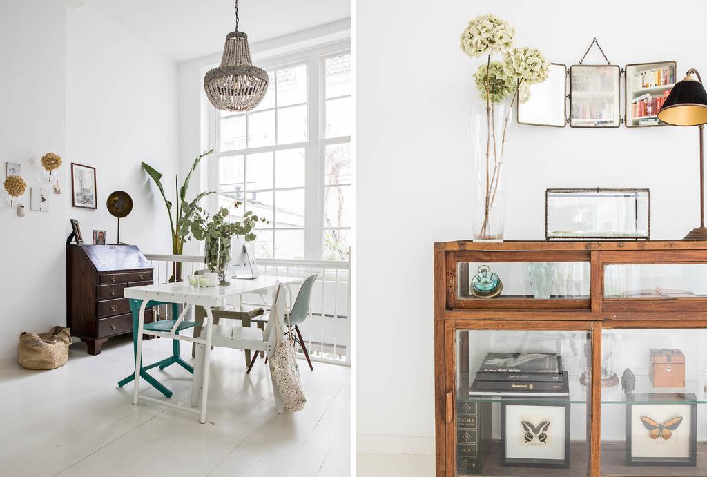 vtwonen binnenkijken in een wit huis met vintage elementen