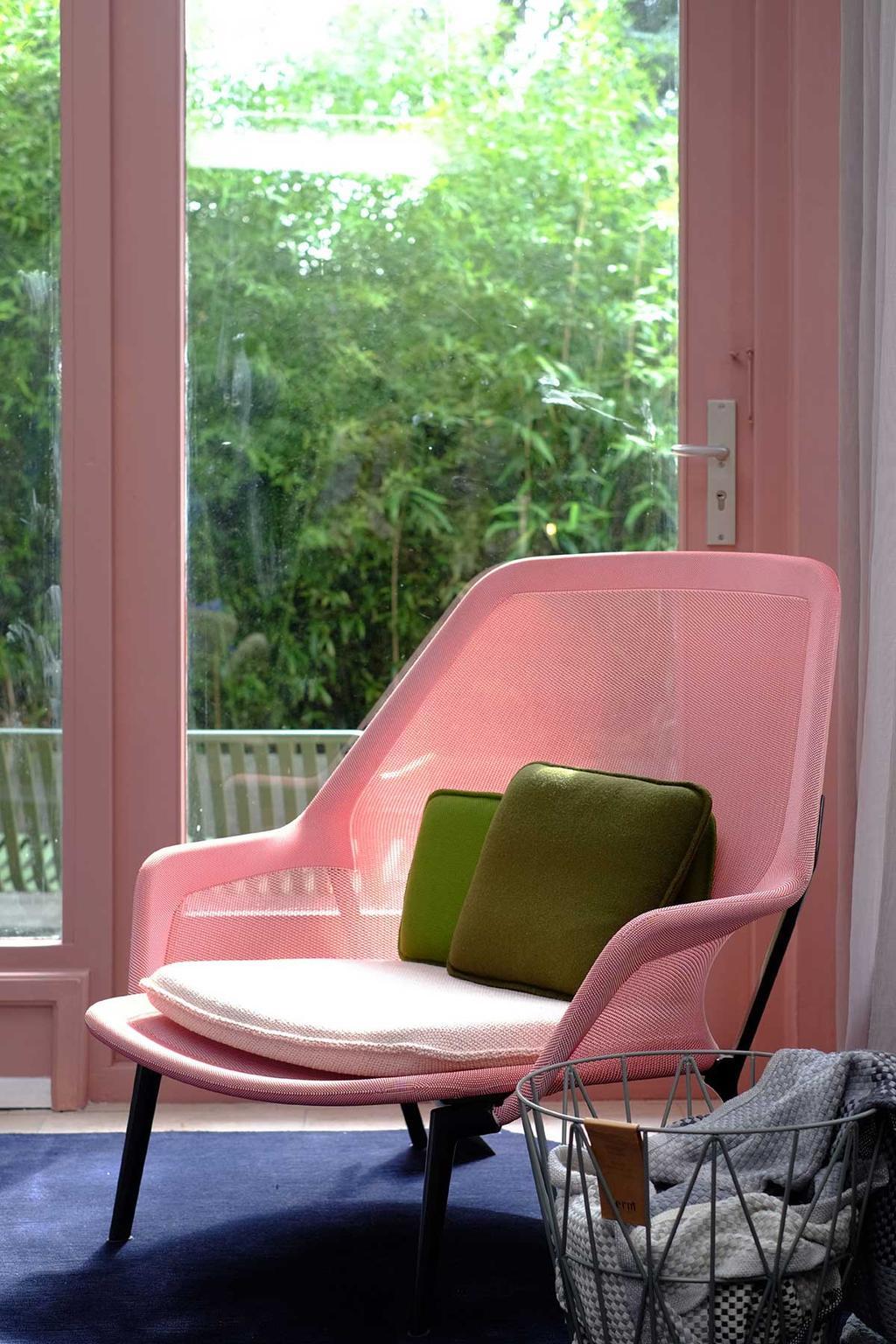 Roze design fauteuil bij Femkeido