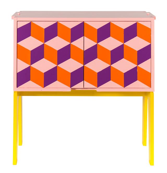 Verftechnieken: geometrische vormen