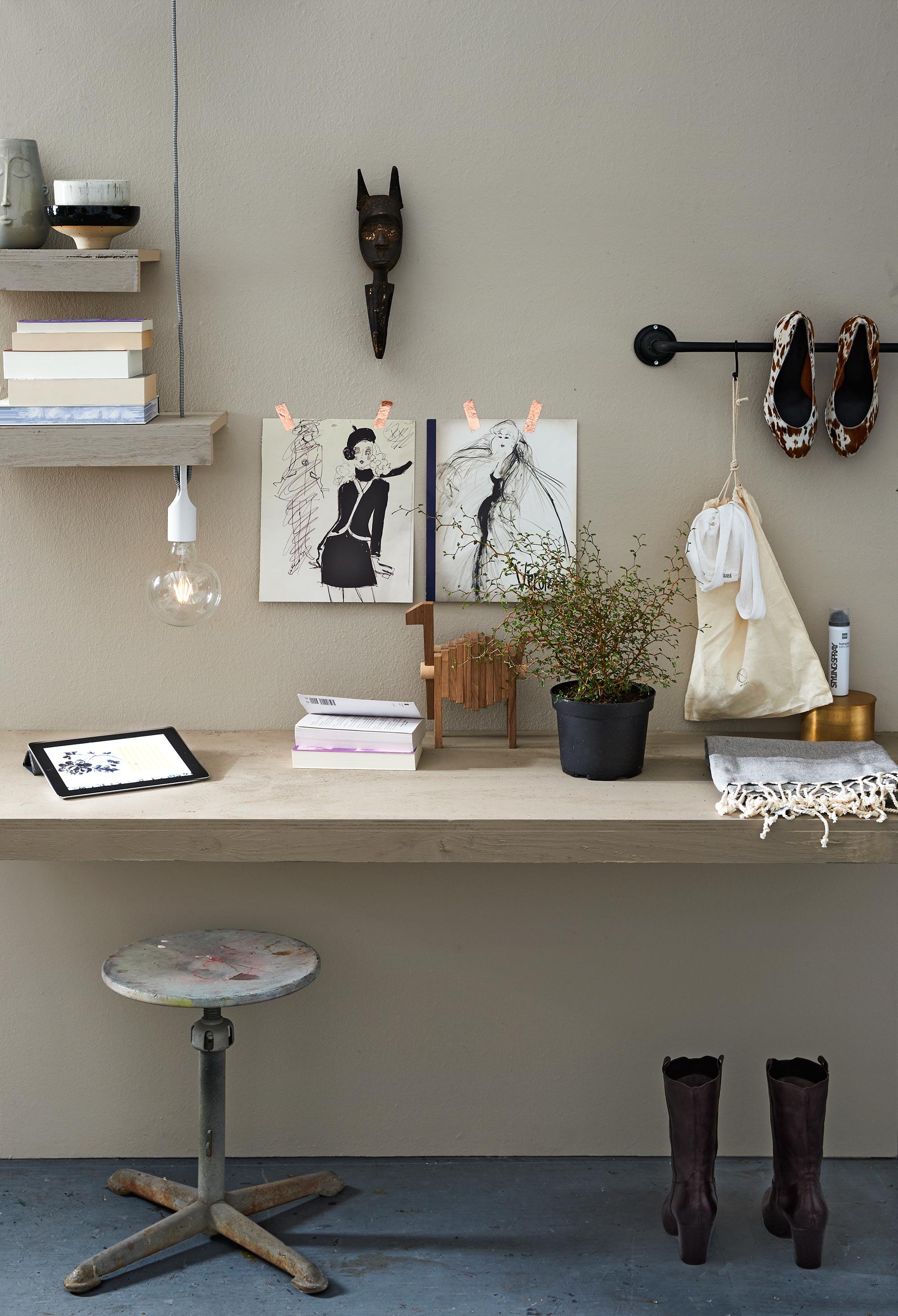 slaapkamer styling werkplek flax