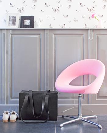 gang roze stoel