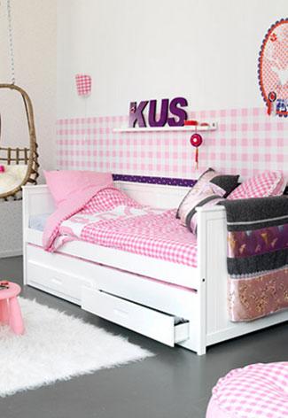 Houten bedbank