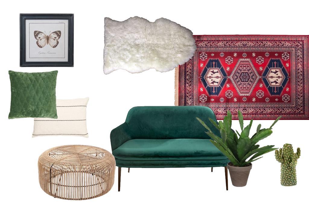 Shoppen in de stijl van een kleurrijk interieur