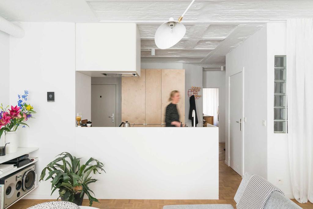 keuken wit kast hout