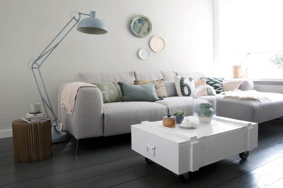 sejour pastel table blanche