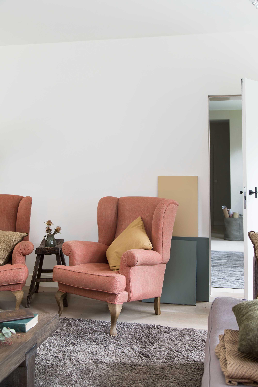rose fauteuil jaune coussin