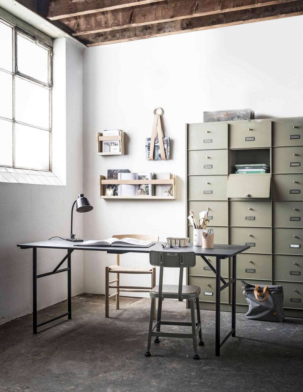 bureau armoire a casiers vintage