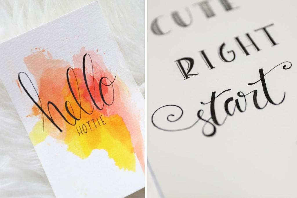 Handlettering kaartjes door Studio Vertess