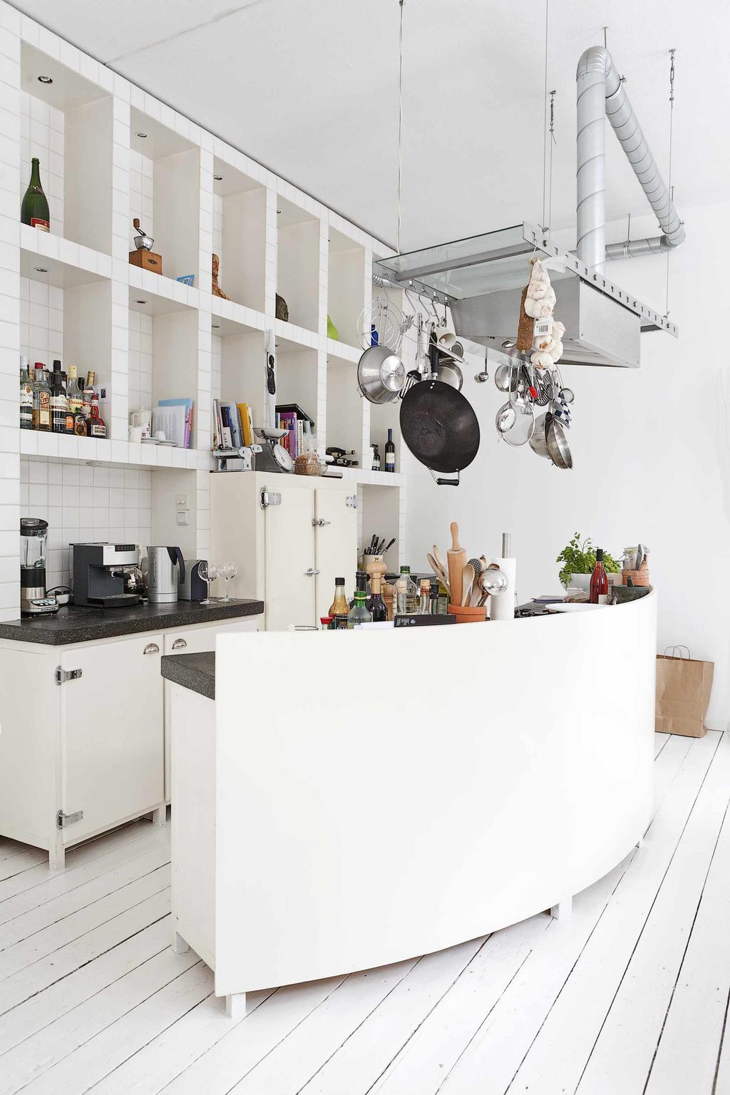 Rond keukenblok