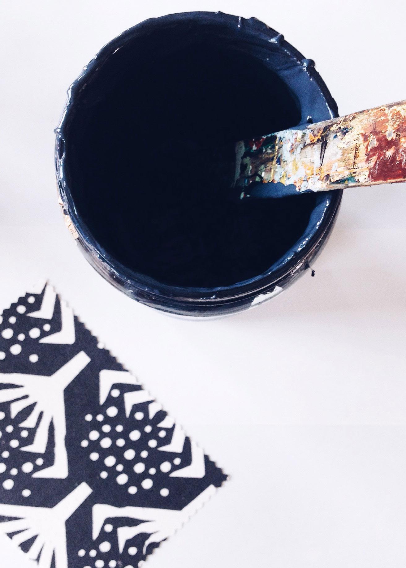 Soetwaer door Nicola Kloosterman indigo print geïnspireerd op de natuur