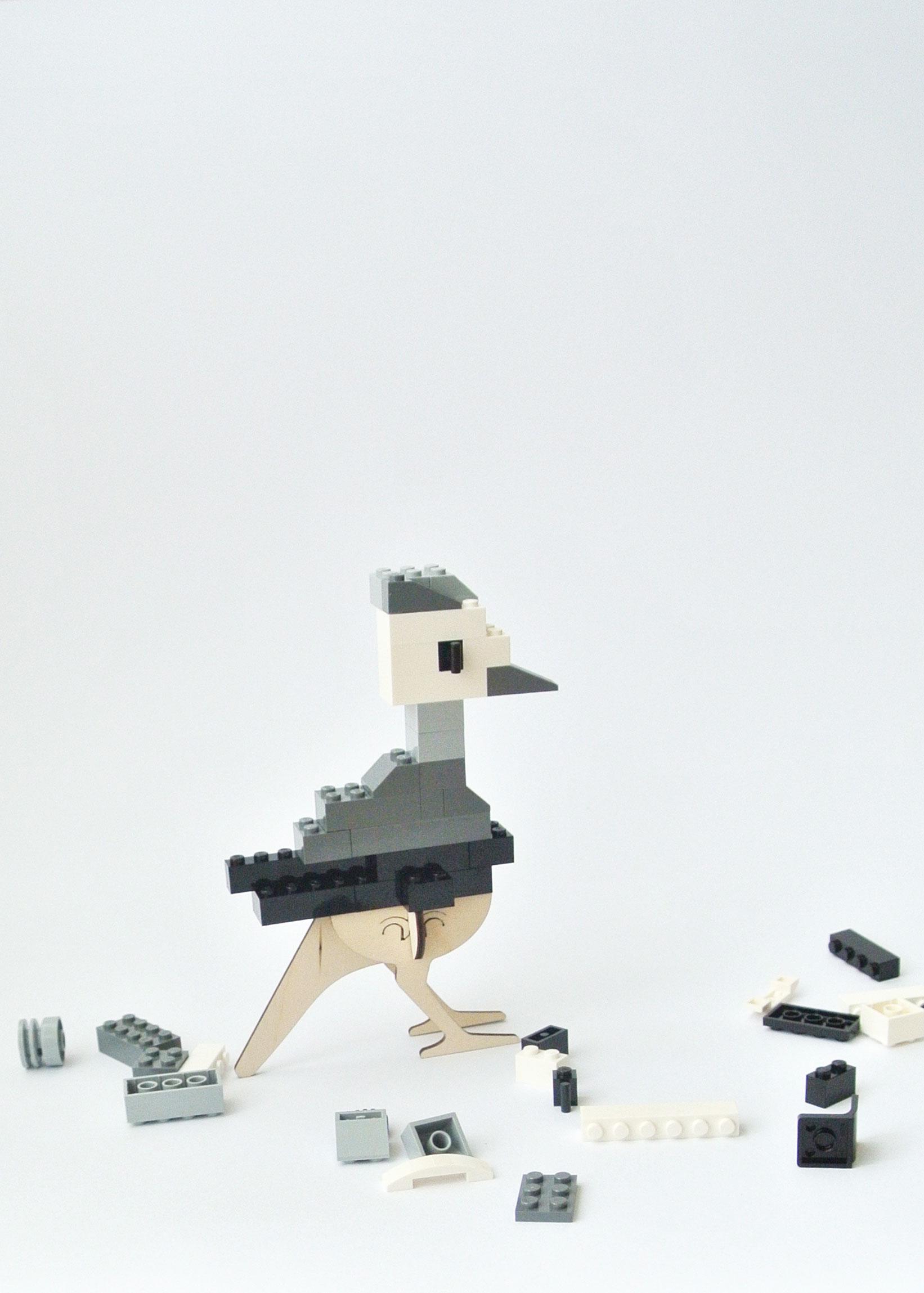 houten vogel LEGO Brikkon