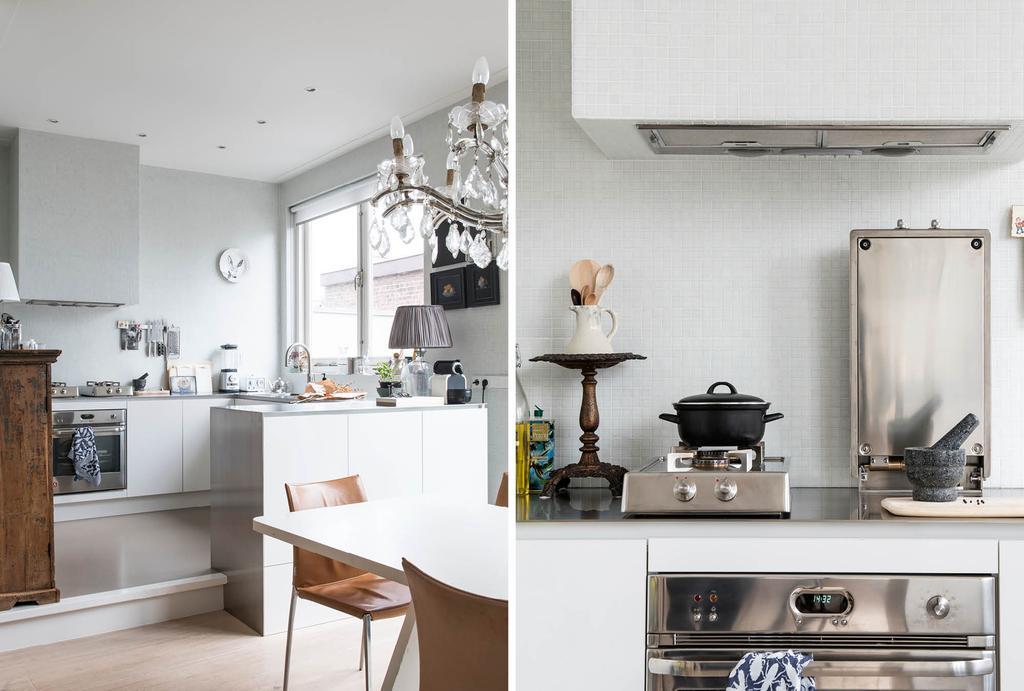 Basic keuken met vintage vondsten