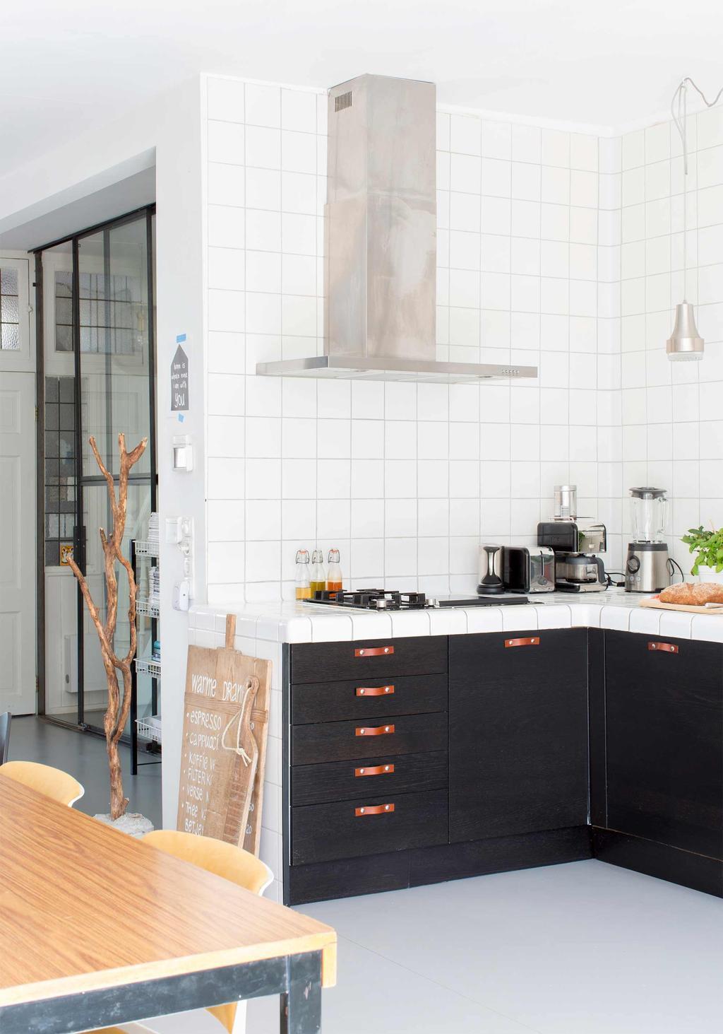 keuken zwart-wit