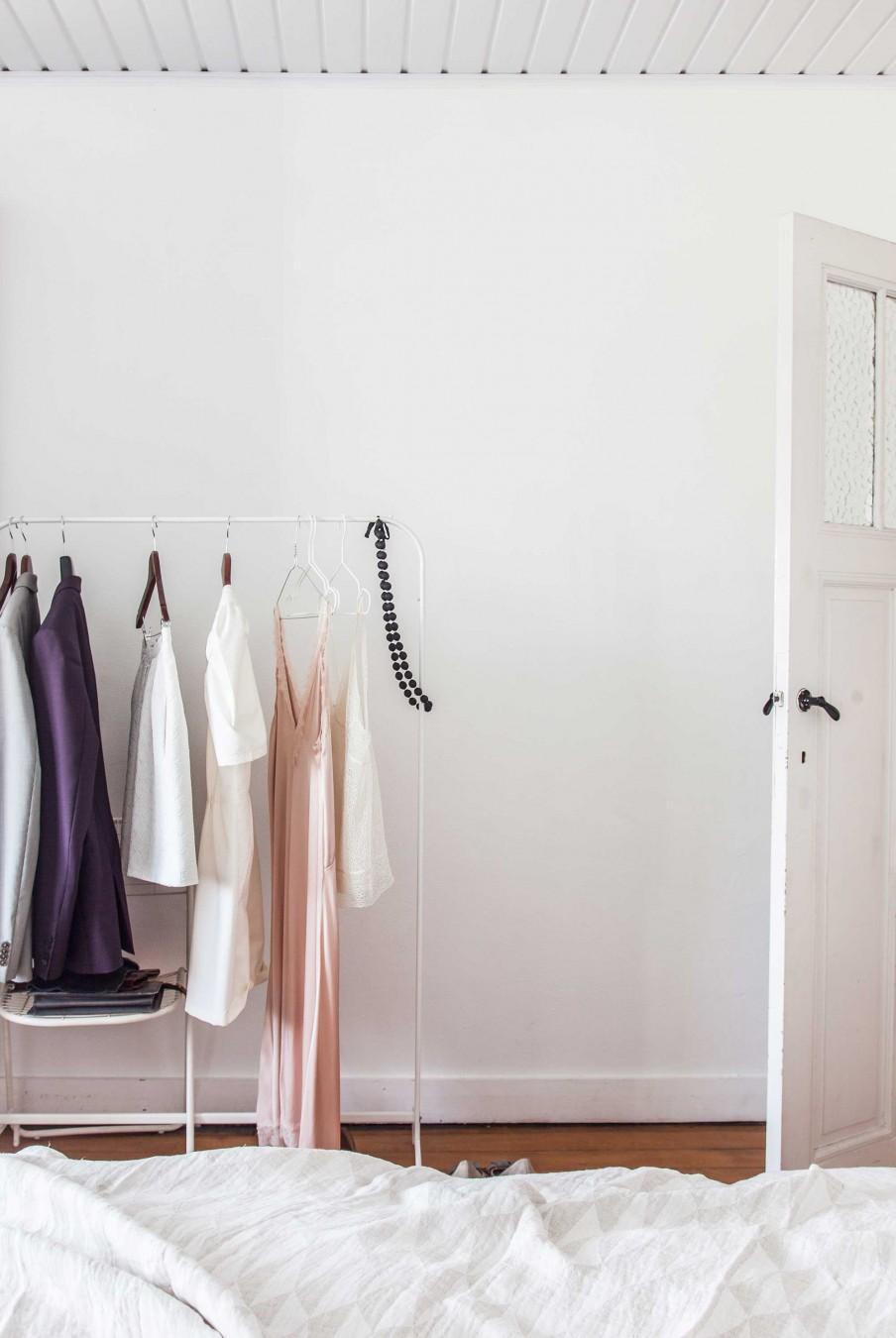 chambre tringle à vêtements