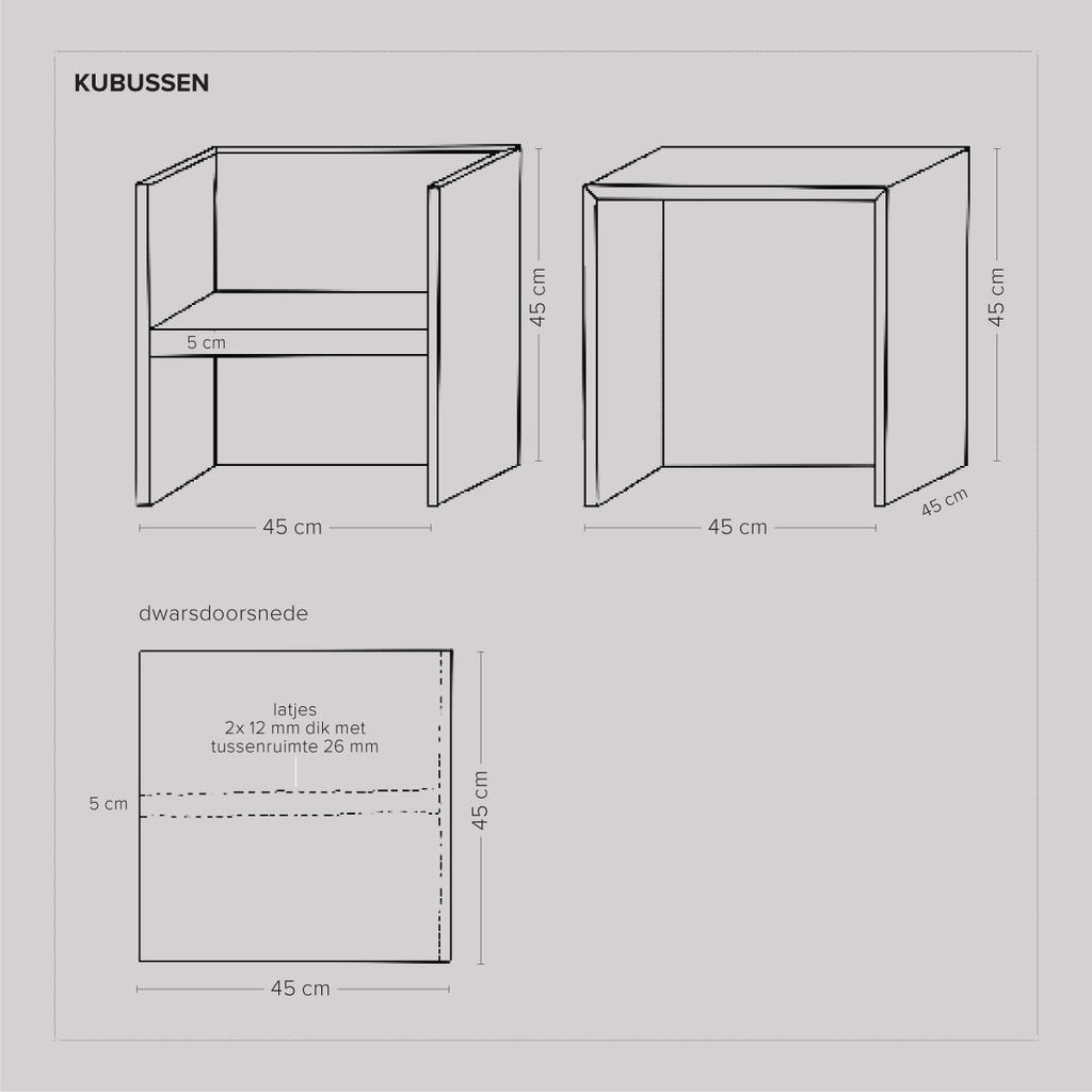 vtwonen 03-2021 | werktekening van de DIY kubussen