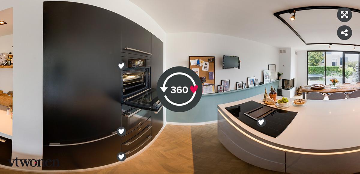 360 tour Zwijndrecht BSH keukenpijler