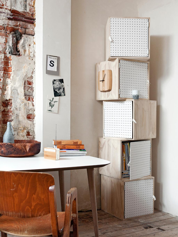 DIY kubuskastjes met hout en geperforeerd paneel