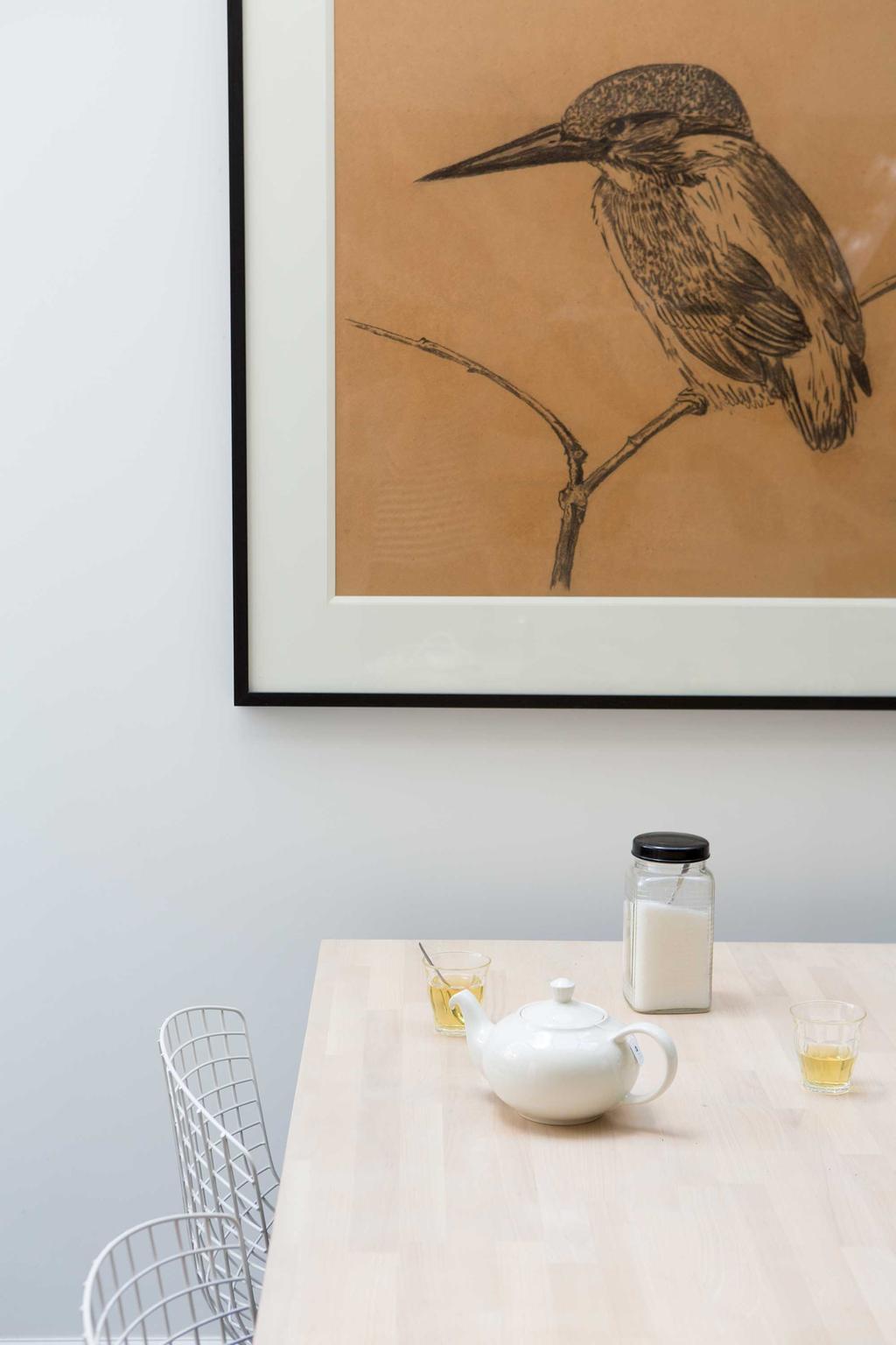 schilderij met vogel