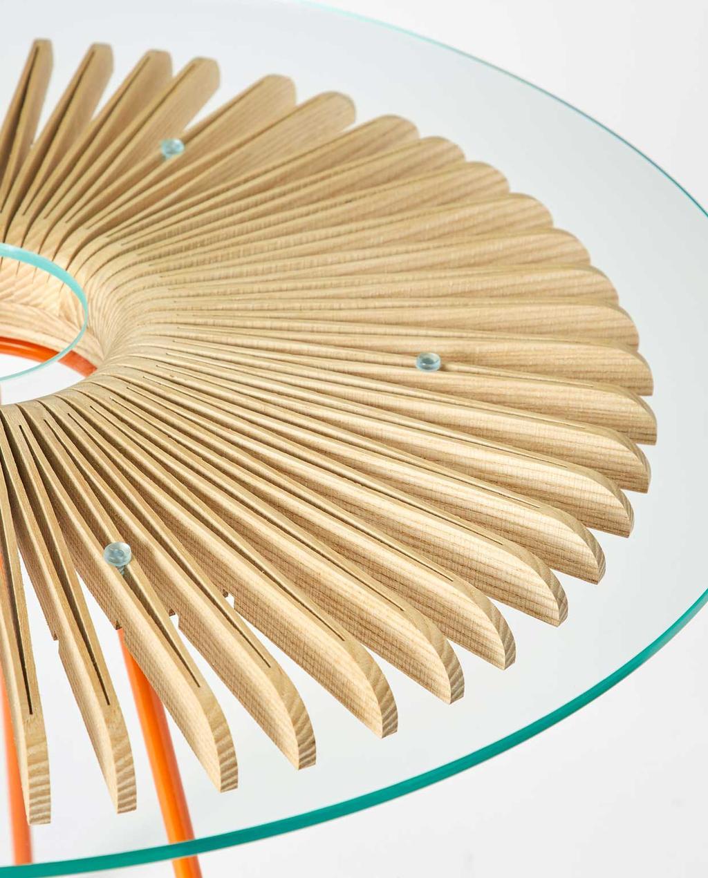 vtwonen | studentdesign | concertina-collectie | Huw Evans | details van de tafel