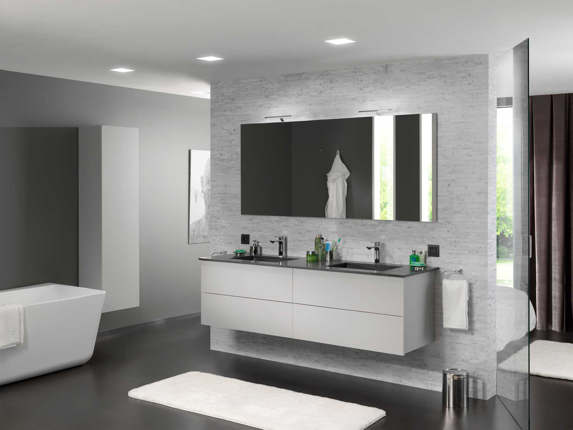 industrieel zwart badkamer