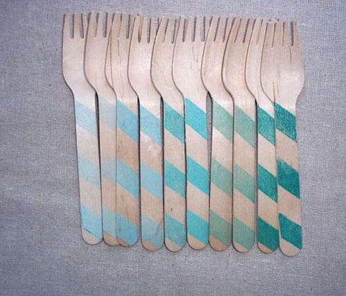 houten vorkjes